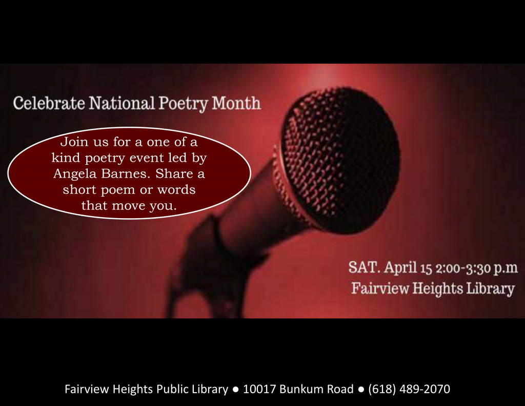 EVENTS Celebrate Poetry - Heart Spoken Words® with Angela Barnes